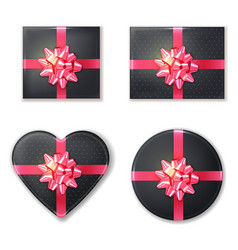 gift box set collection black and pink vector image