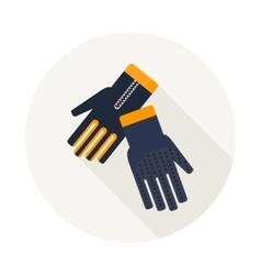 Gloves for diving vector