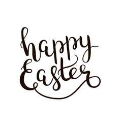 Happy easter hand-drawn lettering decoration text vector