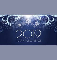 Happy hew 2019 year shining holiday background vector