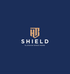 Hb letter shield icon vector