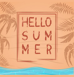 Hello summer summer lettering design vector