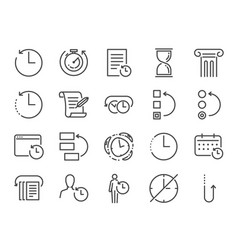 History and time management icon set vector