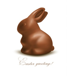 Holiday Easter background with Chocolate bunny vector image