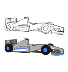 Industrial racing car vector