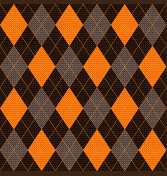 knitted seamless pattern of orange brown and gray vector image