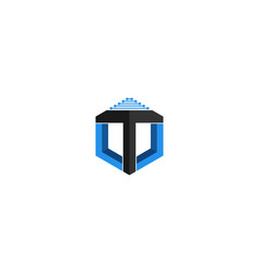 letter t logo designs inspiration isolated on vector image