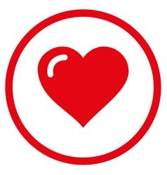love heart rounded icon vector image