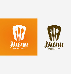 menu logo diner restaurant symbol vector image
