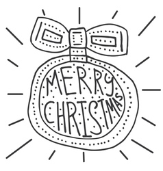 Merry Christmas background with hand lettering vector