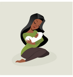 mother and baby vector image