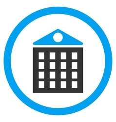 Multi-Storey House Rounded Icon vector