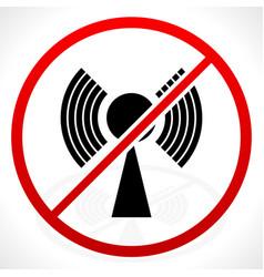 No signal bad antenna concepts icon vector