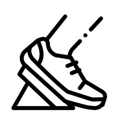 Pads running from low start icon outline vector