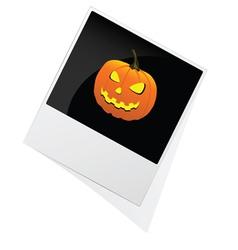 Photo pumpkin for Halloween vector