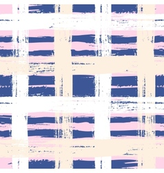 Plaid pattern with wide brushstrokes vector
