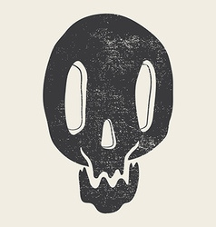 Print depicting a skull poster vector image
