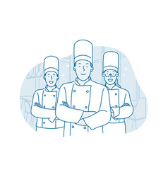 professional chef cooking restaurant concept vector image