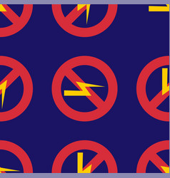 prohibition sign industry production vector image