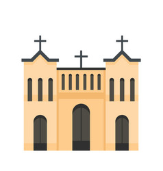 protestant church icon flat style vector image