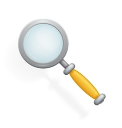 Realistic Magnifying Glass Loupe Icon Search vector image