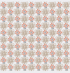 seamless pattern with flowers on white background vector image