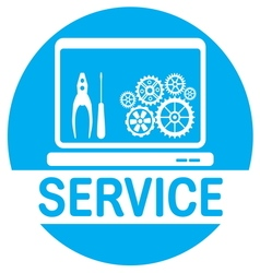 SERVICE COMPUTER3 vector image