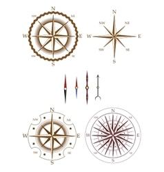 Set of compass elements vector