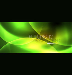shiny neon circles abstract background vector image