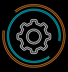 simple gear thin line icon vector image