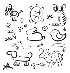 Simple sketch pets vector