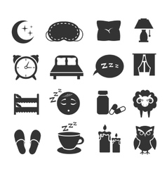 Sleep night relax pillow bed moon owl zzz vector