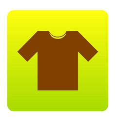 t-shirt sign brown icon at vector image