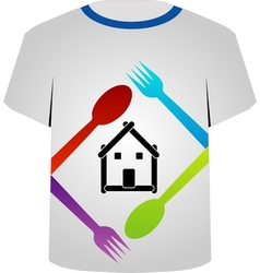 T Shirt Template- food lover vector image