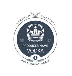Template vodka label vector