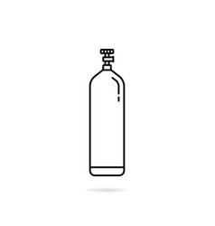 Thin line gas cylinder icon vector