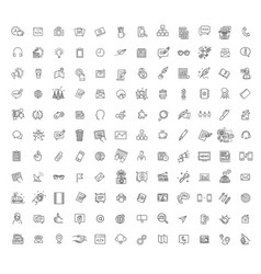 Thin line icons set icons for marketing vector