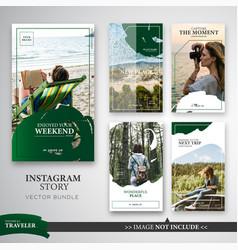 Traveler instagram stories template bundle in vector