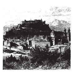 view of salzburg vintage vector image