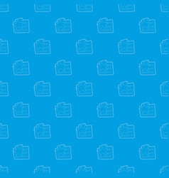 Wishlist pattern seamless blue vector