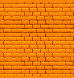 yellow brick wall seamless texture vector image