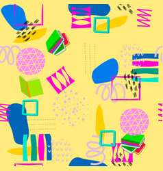Yellow geometric abstract seamless pattern vector