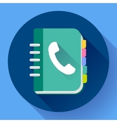 Address phone book icon notebook icon Flat vector image vector image
