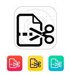 Cut file icon vector image vector image