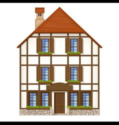 old style house vector image vector image