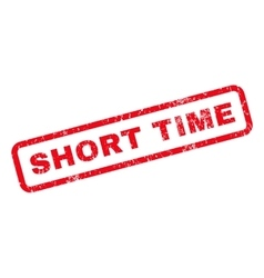 Short Time Rubber Stamp vector image
