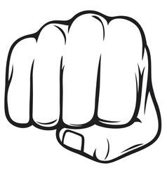 fist vector image vector image