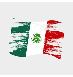 mexico color national flag grunge style eps10 vector image