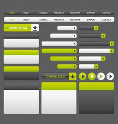 Website buttons template green and grey vector