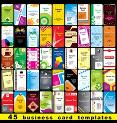 45 business cards vector image